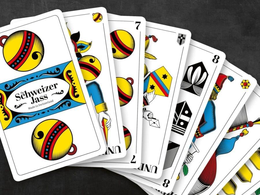 Fächer Der Schweizer Jass Spielkarten Deutschschweiz
