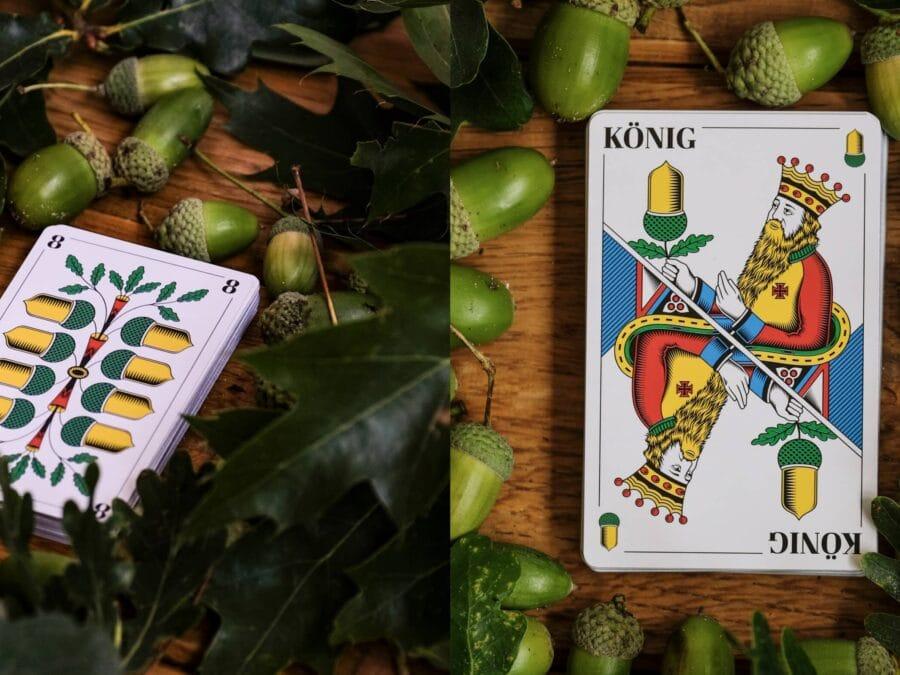 Eicheln Spielkarten Schweizer Jass in Echt
