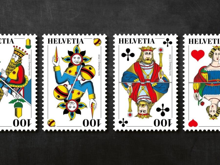 Briefmarkenserie Schweizer Jass