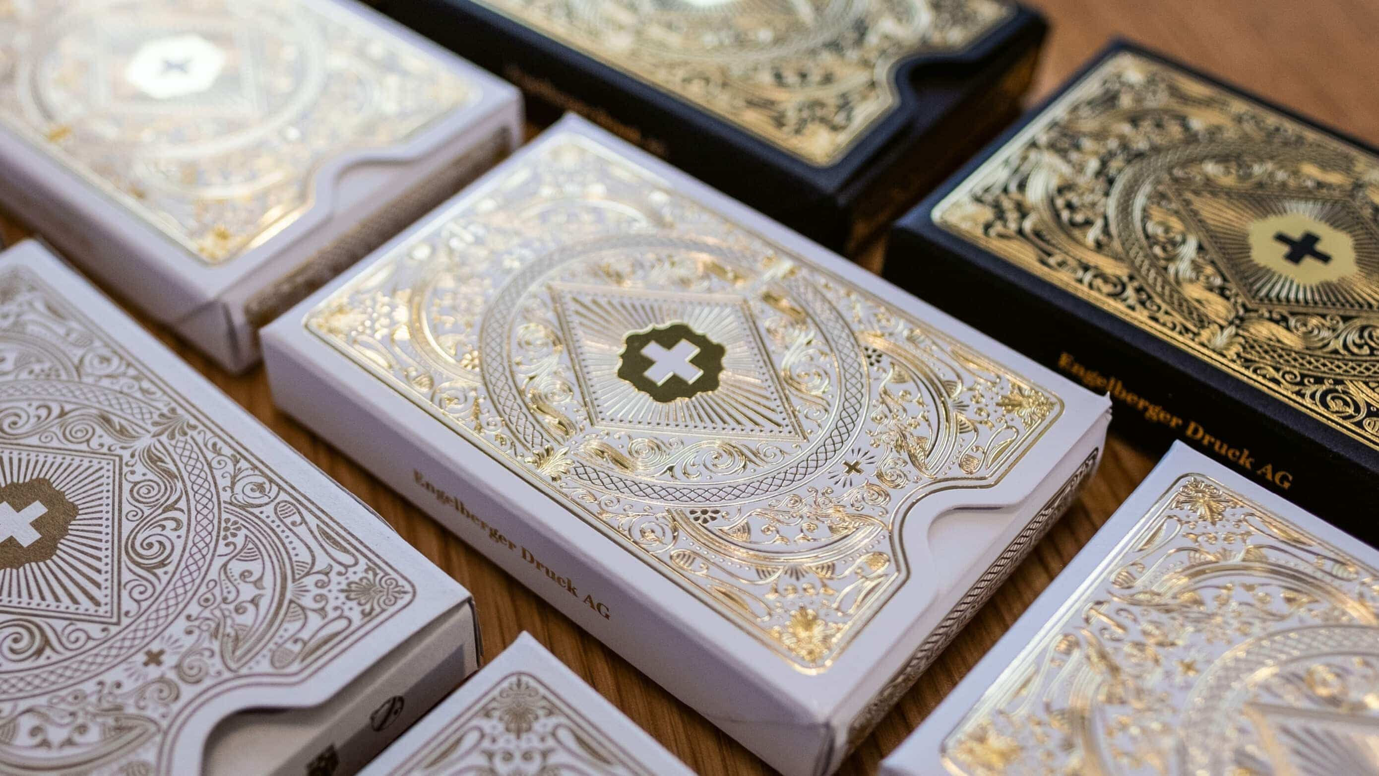 Schweizer Jass Gold Deluxe Verpackungen