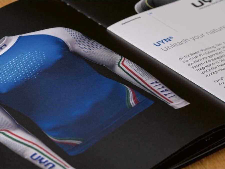 Innenseite der aufwändigen Broschüre für Tere Innovation.