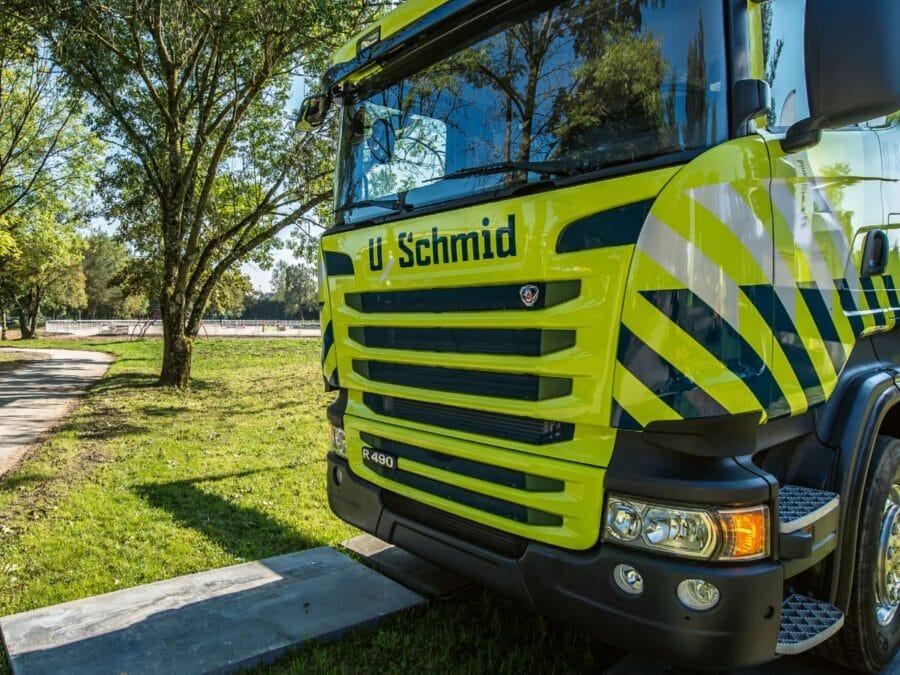 Uschmid AG Lastwagen Beschriftung