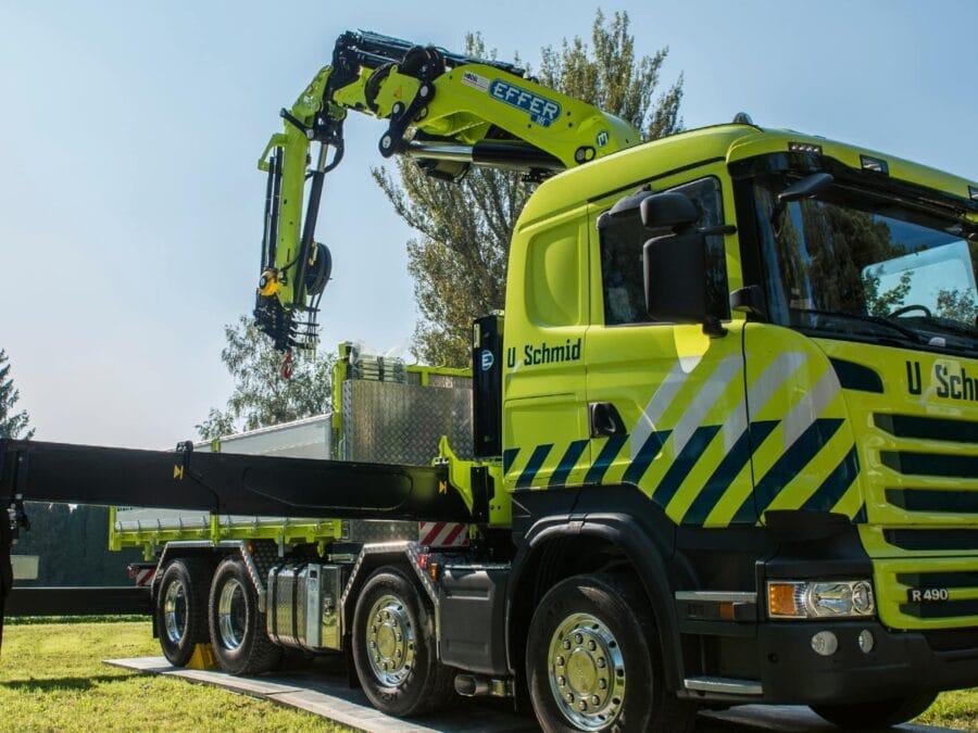 Uschmid Lastwagen Beschriftung